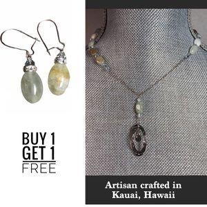 Artisan Crafted in Hawaii Necklace & Earrings Set
